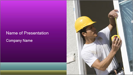 Male taking PowerPoint Template