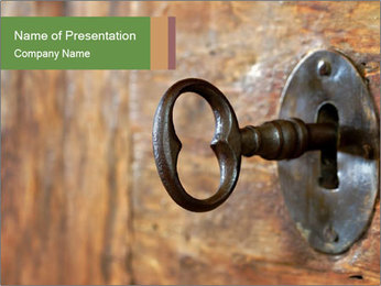 Closeup of an old keyhole PowerPoint Templates - Slide 1