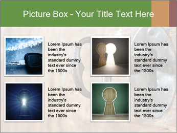 Closeup of an old keyhole PowerPoint Templates - Slide 14