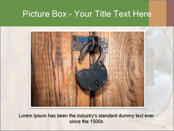 Closeup of an old keyhole PowerPoint Templates - Slide 16