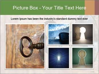 Closeup of an old keyhole PowerPoint Templates - Slide 19