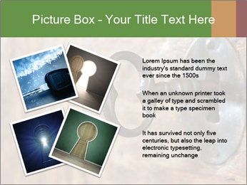 Closeup of an old keyhole PowerPoint Templates - Slide 23