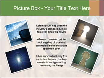 Closeup of an old keyhole PowerPoint Templates - Slide 24