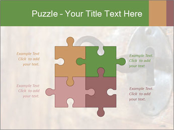Closeup of an old keyhole PowerPoint Templates - Slide 43