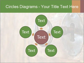 Closeup of an old keyhole PowerPoint Templates - Slide 78