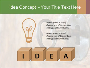 Closeup of an old keyhole PowerPoint Templates - Slide 80
