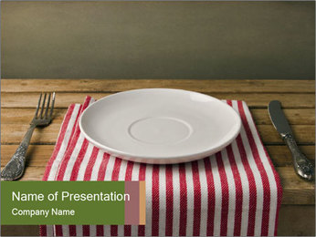 Table arrangement PowerPoint Template - Slide 1