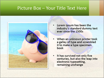 Summer piggy bank PowerPoint Template - Slide 13