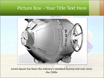 Summer piggy bank PowerPoint Template - Slide 16