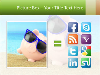 Summer piggy bank PowerPoint Template - Slide 21