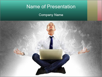 Yoga businessman PowerPoint Template - Slide 1