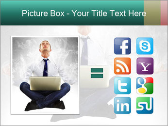 Yoga businessman PowerPoint Template - Slide 21