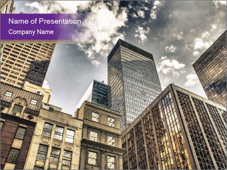 Manhattan Skyline PowerPoint Template