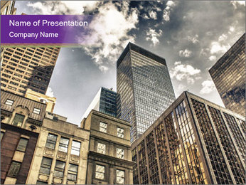 Manhattan Skyline PowerPoint Template - Slide 1