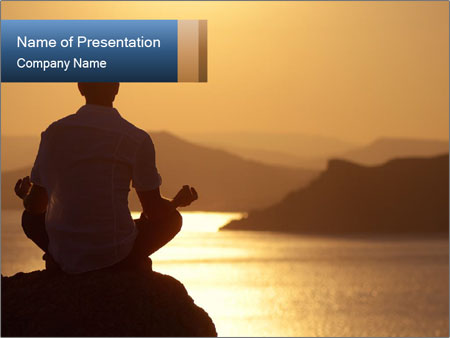 Guy meditating PowerPoint Templates