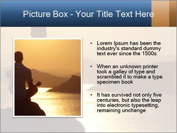 Guy meditating PowerPoint Template - Slide 13