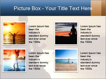 Guy meditating PowerPoint Template - Slide 14