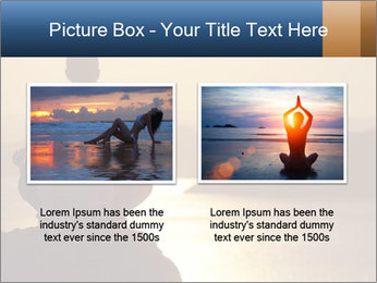 Guy meditating PowerPoint Template - Slide 18