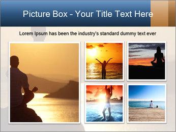 Guy meditating PowerPoint Template - Slide 19