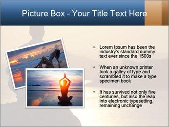 Guy meditating PowerPoint Template - Slide 20