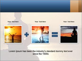 Guy meditating PowerPoint Template - Slide 22