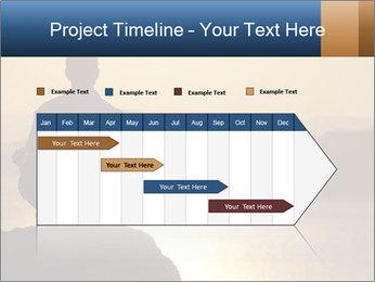 Guy meditating PowerPoint Template - Slide 25