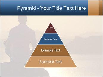 Guy meditating PowerPoint Template - Slide 30
