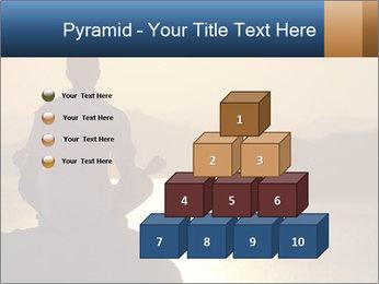 Guy meditating PowerPoint Template - Slide 31