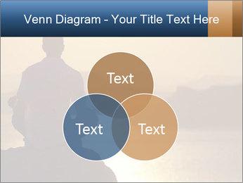 Guy meditating PowerPoint Template - Slide 33
