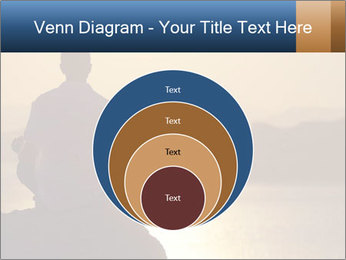 Guy meditating PowerPoint Template - Slide 34