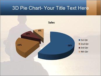 Guy meditating PowerPoint Template - Slide 35