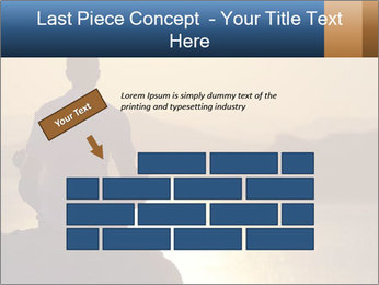 Guy meditating PowerPoint Template - Slide 46