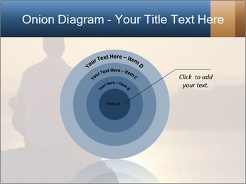 Guy meditating PowerPoint Template - Slide 61