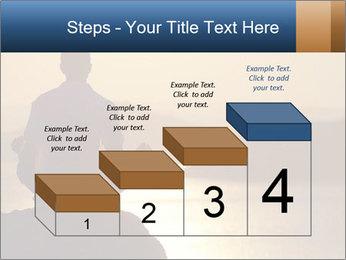 Guy meditating PowerPoint Template - Slide 64