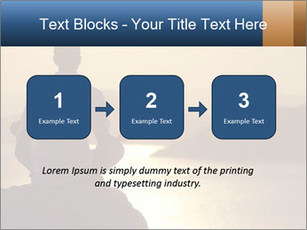 Guy meditating PowerPoint Template - Slide 71
