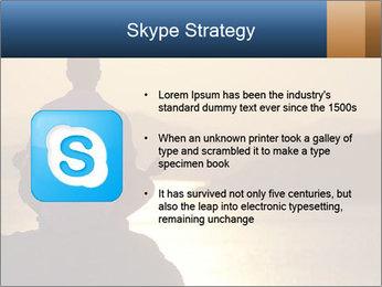 Guy meditating PowerPoint Template - Slide 8