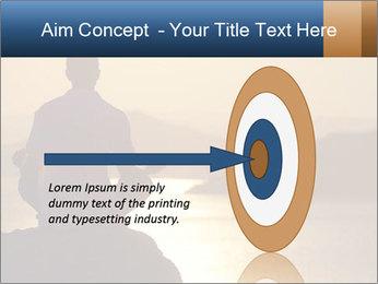 Guy meditating PowerPoint Template - Slide 83
