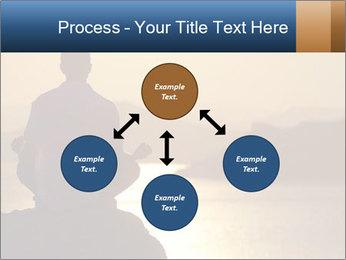 Guy meditating PowerPoint Template - Slide 91