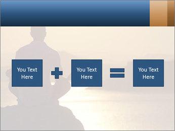Guy meditating PowerPoint Template - Slide 95