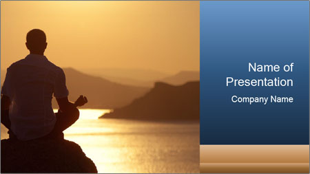 Guy meditating PowerPoint Template