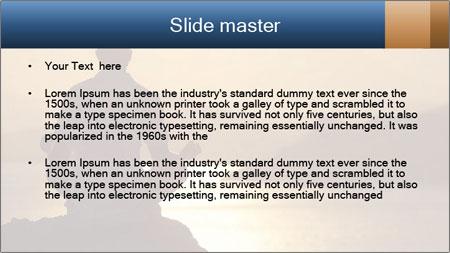 Guy meditating PowerPoint Template - Slide 2