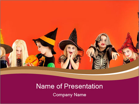 Halloween costumes PowerPoint Template