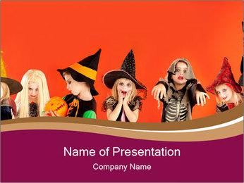 Halloween costumes PowerPoint Template - Slide 1