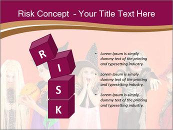 Halloween costumes PowerPoint Template - Slide 81
