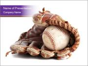 Baseball glove PowerPoint Templates