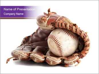 Baseball glove PowerPoint Template - Slide 1