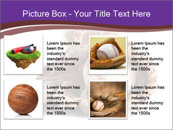 Baseball glove PowerPoint Template - Slide 14