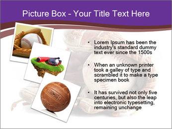 Baseball glove PowerPoint Template - Slide 17
