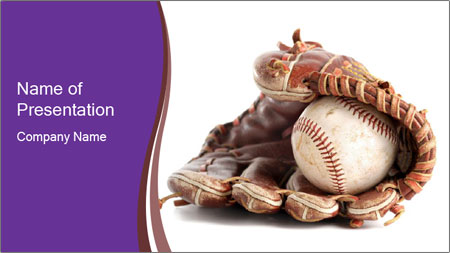 Baseball glove PowerPoint Template