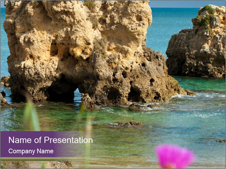 Sandstone cliffs PowerPoint Template